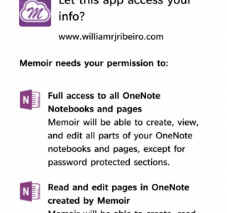 The OneNote permission confirmation dialog