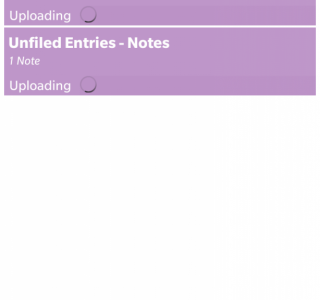 Showing a list of Notes being uploaded