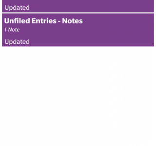 Showing a list of updated Notes